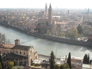 Verona - La città da Castel San Pietro - C. Ricci